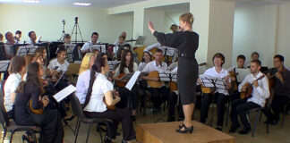 Folk instruments orchestra